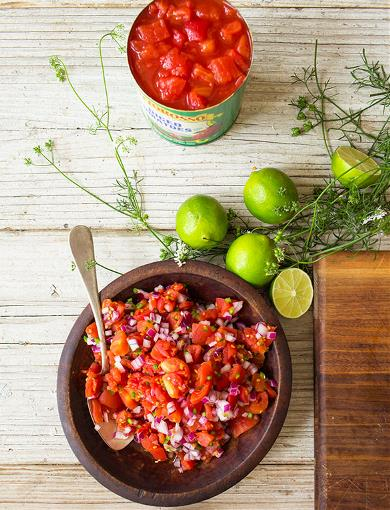 Tomato Salsa and Cilantro Cream