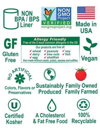 Non-GMO & Non BPA/BPS