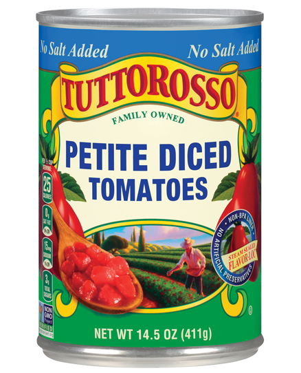Tuttorosso Petite Diced Tomatoes No Salt Added