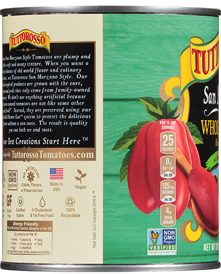 Tuttorosso San Marzano Style Peeled Pear Tomatoes