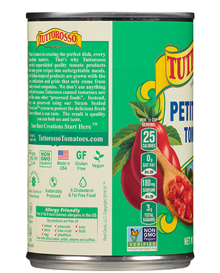 Petite Diced Tomatoes 14.5 oz | Tuttorosso Tomatoes
