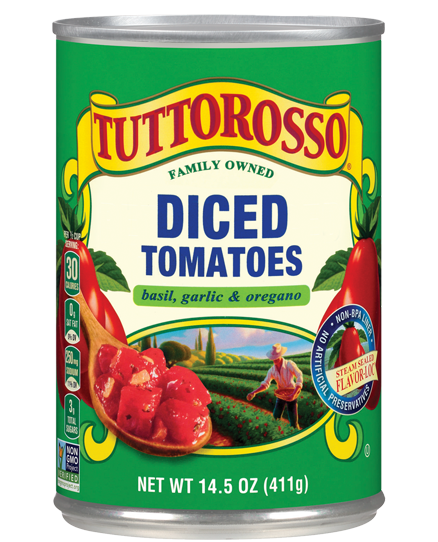 Tuttorosso Diced Tomatoes Basil, Garlic and Oregano