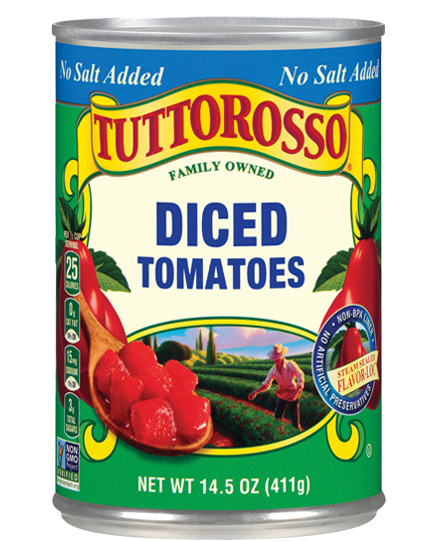 Tuttorosso Diced Tomatoes No Salt Added