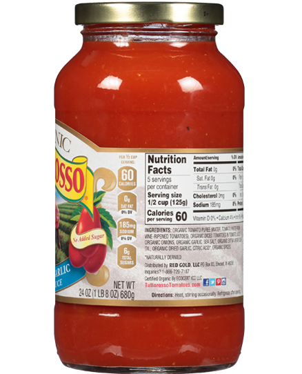 Organic Tomato and Basil Pasta Sauce | Tuttorosso Tomatoes