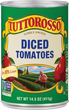 Tuttorosso Diced Tomatoes 14.5 oz