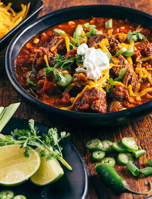 Hearty Beef Chili Tuttorosso Tomatoes
