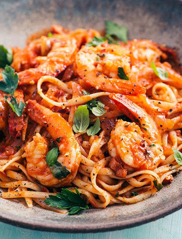 Tuttorosso Tomatoes Shrimp Fra Diavolo