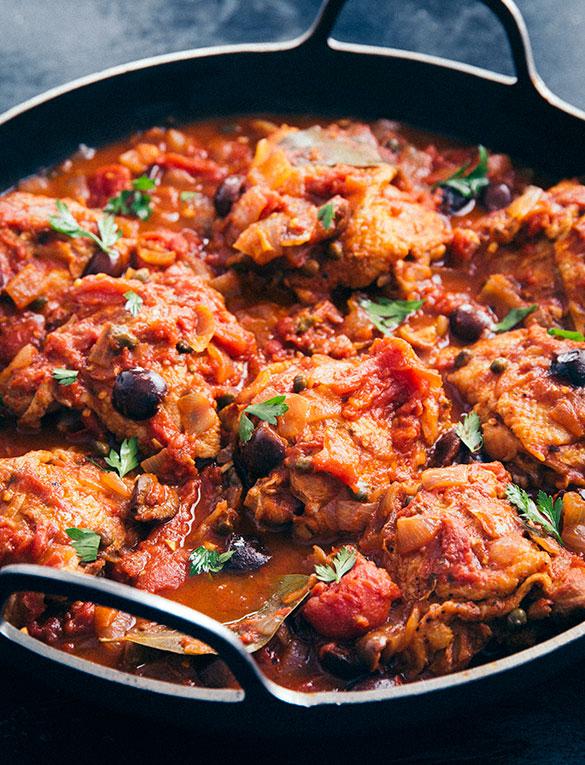 Mediterranean Chicken Thighs Tuttorosso Tomatoes