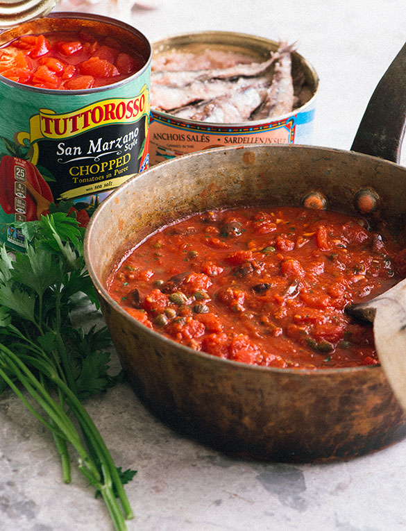 Puttanesca Tuttorosso Tomatoes